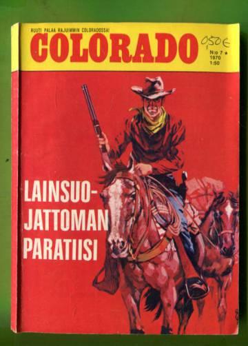 Colorado 7/70 - Lainsuojattoman paratiisi