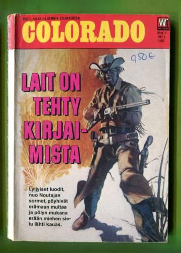 Colorado 7/71 - Lait on tehty kirjaimista