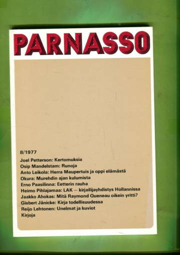 Parnasso 8/77