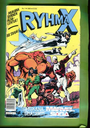 Ryhmä-X 1/89 (X-Men) + Marvel Saga 1
